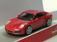 Herpa Porsche 911 Carrera 4, rot - 028646 - 1:87