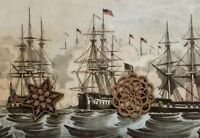 VTG Currier & Ives Art Print Antique Repro War of 1812 ** SEE VARIETY