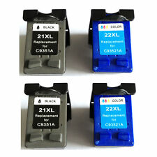 Ink Cartridge for HP 21XL/22XL Officejet 4315 Printer(2 Black+2 Color)