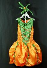 Girls 2pc Palomon Satin Pumpkin Princess Halloween Costume 8 10