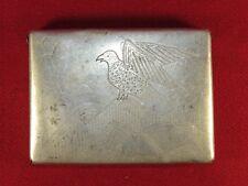 WW2 cigarette case, trench art!