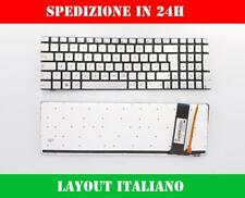 TASTIERA ASUS N550 N550j N550JA N550JK N550JV SILVER RETROILLUMINATA ITALIANA