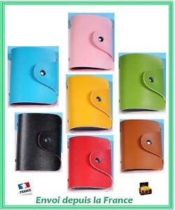 Porte Carte De Fidélité Crédit Visite Etui Souple Uni Compact Léger - 12 cartes