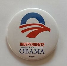 Independents for Obama Official Campaign Button / Pin