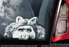 Miss Piggy - Car Window Sticker - The Muppet Show Peeper Sign Art Gift n.Kermit