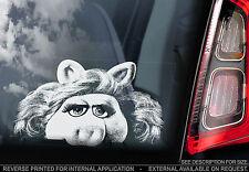 Miss Piggy-Finestra Auto Adesivo-I Muppet Show caccone SEGNO ARTE REGALO N. Kermit