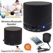 NEW MINI WIRELESS BLUETOOTH PORTABLE SPEAKER MIC FOR IPHONE IPAD MP3 BLACK UK