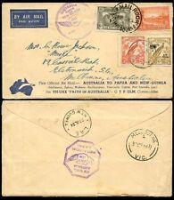 NEW GUINEA AUSTRALIA 1934 FIRST AIRMAIL MELBOURNE + LAE