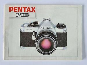 Pentax MG Original Camera Instructions Operations Manual