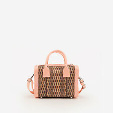 HARVEYS SEATBELT BAGS WICKER MINI MARILYN SATCHEL crossbody peach vegan