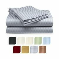Deep Pocket 6 Piece Bed Sheet Set 1800 Count Egyptian Comfort Sheets, Striped