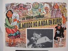 """""""El Miedo No Anda En Burro"""" Lobby Card 11x14"""" Cult Horror / Movie Poster Spiders"""