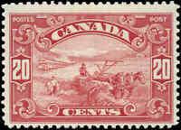 Canada Mint F+ Scott #175 20c 1930 King George V Arch-Leaf Stamp Hinged