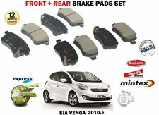 FOR KIA VENGA 1.4 1.6 CVVT + CRDI  2010-> NEW FRONT + REAR BRAKE DISC PADS SET