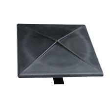 "4"" Square Light Pole Top Cap- Black Plastic"