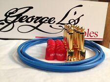 George L's 155 Guitar Pedal Cable Kit .155 Blue / Red / Gold - 10/10/5