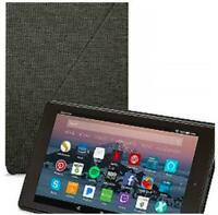 Amazon Fire HD 8 Tablet Case (7th Generation, 2017 Release) - Charcoal Black Ope