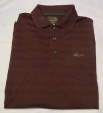 Tasso ELBA Mens Embroidered Long Sleeve Polo Shirt Sz S Port Striped Top US