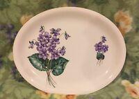 ❤️HOMER LAUGHLIN DEBUTANTE USA Violets Oval Serving Platter 13 1/2 EUC