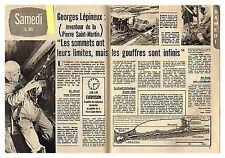 1965 DOCUMENT (ref TPM 269) GEORGES LEPINEUX SPELEO PIERRE SAINT MARTIN   2p