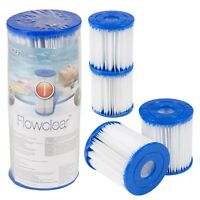 2 4 6 Bestway Replacement Filter Cartridge Swimming Pool Pump Easy Set Up Blue