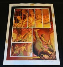Batman Birth of the Demon p89 Ra's al Ghul vs Huwe painted art by Norm Breyfogle