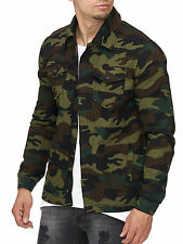 MADDU Herren Army Camouflage Jacke Sommer Jacket Hemd Übergansjacke Neu