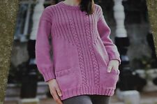 Tivoli Knitting Pattern 1996 Woolrich Chunky Sweater 32-38""