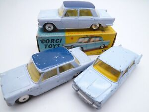 VINTAGE CORGI 217 FIAT 1800 SALOON TRIO, ONE ORIGINAL BOX ISSUED 1960-63