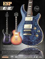 ESP E-II Mystique QM Horizon Eclipse FM guitar series advertisement 2015 ad