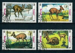 SAN37 Mongolia 1990 Animals Fauna Antelopes, Set of 4, used/CTO