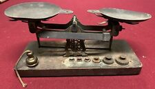 Antique Wood / Metal Scale with Weights