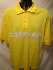 Total DUTCH Men's S/S Amsterdam Label Yellow Polo Shirt Size XL Polyester Blend