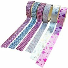 Lot 10x DIY Self Adhesive Glitter Washi Masking Tape Sticker Craft Decor K1D5