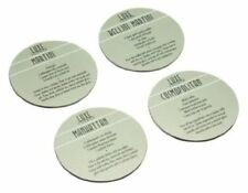 Kitchen Craft Luxe Lounge Pack of Four Drinks Coasters, 10cm