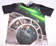 Star Wars Han Solo Millennium Falcon Boys Black Green Printed T Shirt Size 10 BN