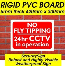 LARGE NO FLY TIPPING SIGN SECURITY SIGN - SHOP SIGNS,BUSINESS SIGNS,FARM SIGNS