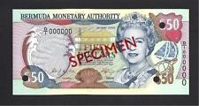 Bermuda p-54 , UNC , 50 Dollars , 2000 , QEII , SPECIMEN !!