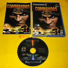 COMMANDOS 2 MEN OF COURAGE Ps2 Versione Ufficiale Italiana 1ª Ed. ○○○○○ COMPLETO