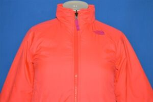 NORTH FACE NEON ORANGE PINK KIRA 2.0 TRICLIMATE GIRLS JACKET LINER SMALL 7/8