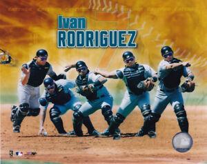 Ivan Rodriguez Florida Marlins HOF 8x10 Photo