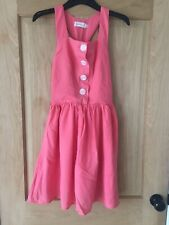 Quirky Dahlia At Asos Pink Sun Dress Size S 1950s Style Twist Back