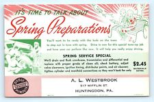 Postcard PA Huntingdon Westbrook Dodge Plymouth Auto Service Reminder Ad Card J4