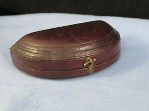 ANTIQUE VICTORIAN JEWELLERY EARRINGS STUDS BUTTONS CUFFLINKS TRINKET LEATHER BOX