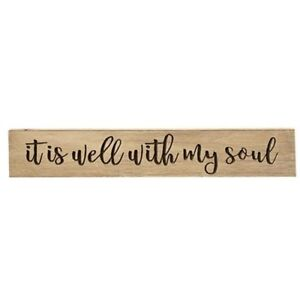 IT IS WELL WITH MY SOUL~ Beautiful Inspirational engraved Wood sign Weathered 36