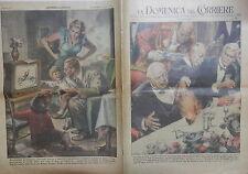 LA DOMENICA DEL CORRIERE 3 Gennaio 1954 Churchill Trasmissioni televisive Wright