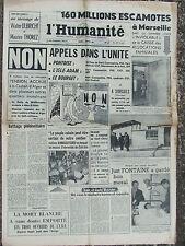 L'Humanité - (3 janv 1961) Non appels dans l'unité - Casbah d'Alger - Cubains