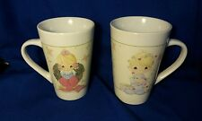 2006 Precious Moments Christmas Coffee Mugs His Hers Wreath Lights Sherwood