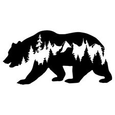 "6"" MOUNTAIN BEAR Vinyl Decal Sticker Window Laptop Animal Forest Trees Nature"