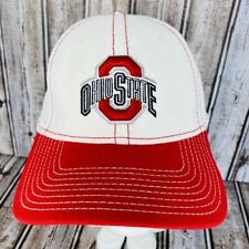 Ohio State OSU White Red Buckeyes Hat New Era Cap M L Embroidered 39Thirty